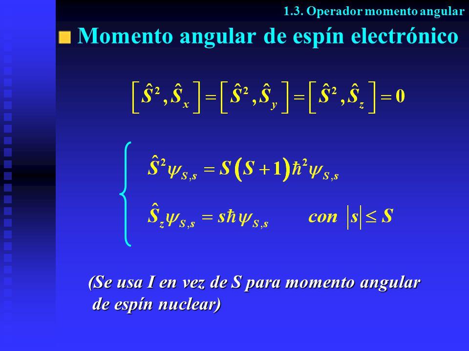 Momento angular de espín electrónico