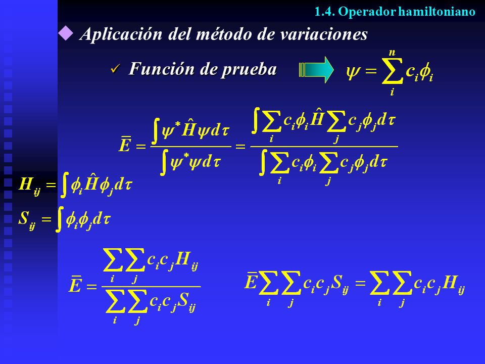 Aplicación del método de variaciones