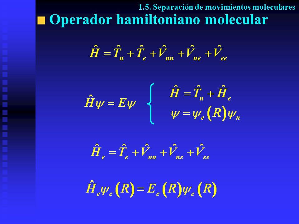 Operador hamiltoniano molecular