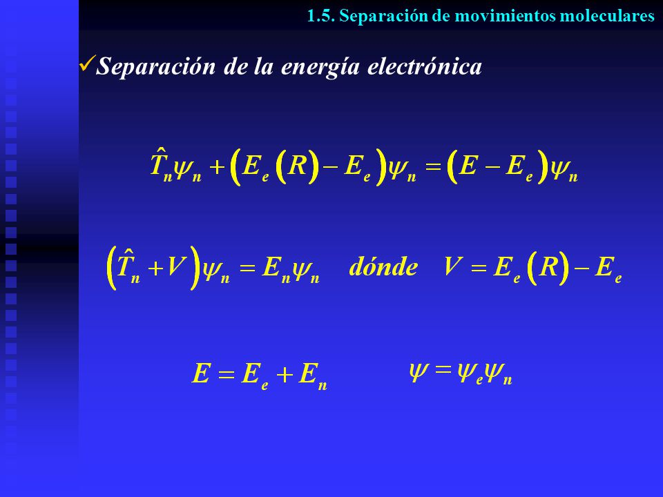 Separación de la energía electrónica