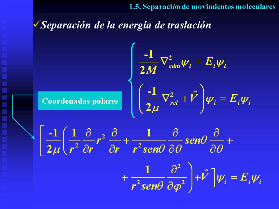 Separación de la energía de traslación