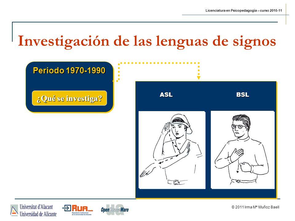 Investigación de las lenguas de signos