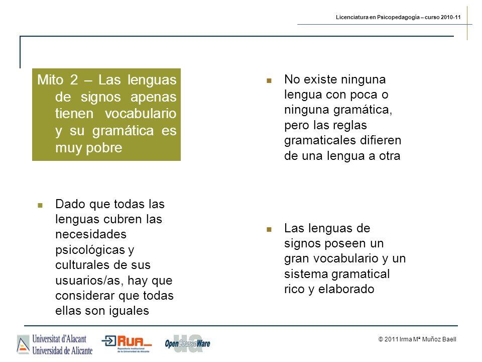 Mito 2 – Las lenguas de signos apenas tienen vocabulario y su gramática es muy pobre