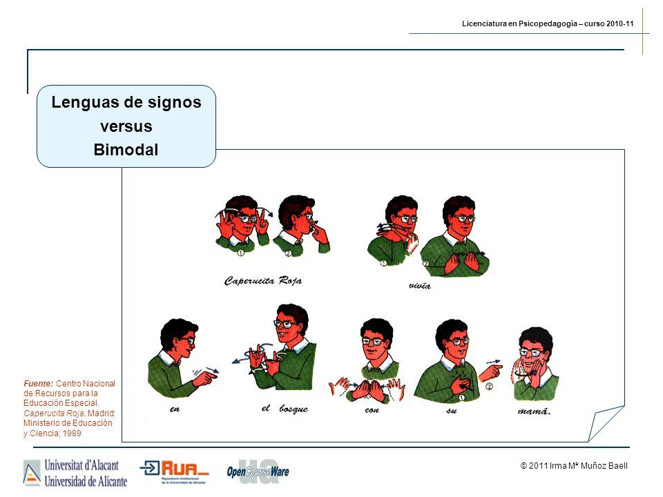 Lenguas de signos versus Bimodal