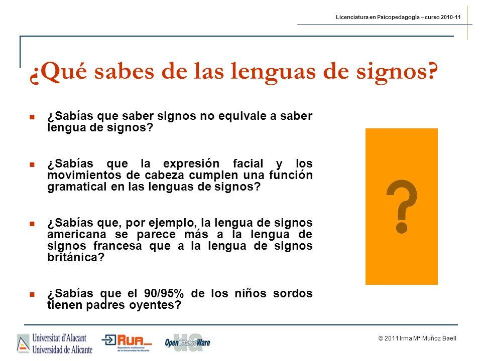 ¿Qué sabes de las lenguas de signos