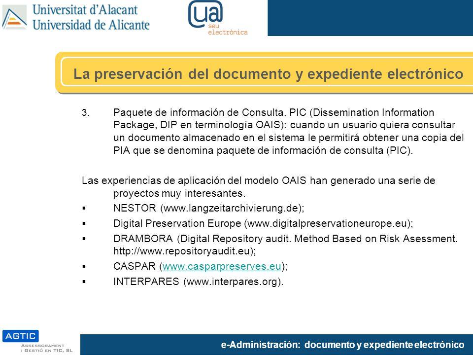La preservación del documento y expediente electrónico