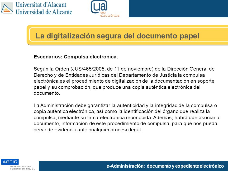 La digitalización segura del documento papel