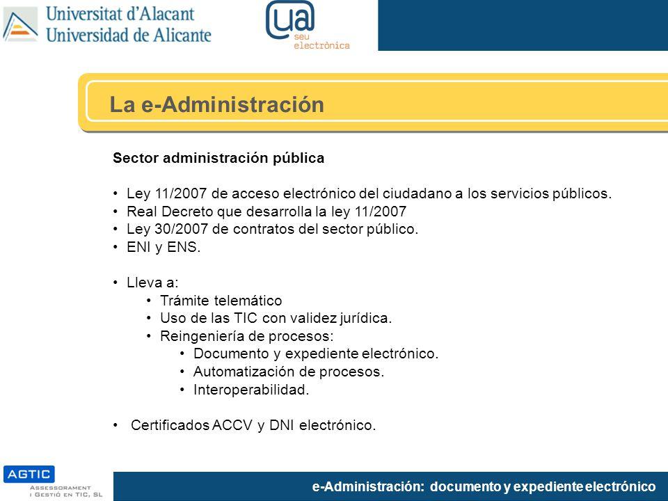 La e-Administración Sector administración pública