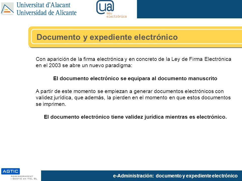 El documento electrónico se equipara al documento manuscrito