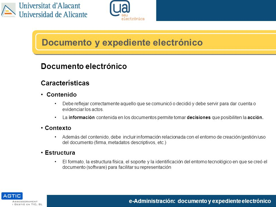 Documento y expediente electrónico
