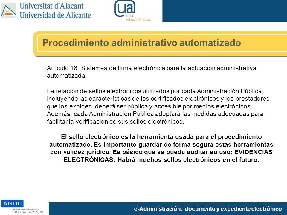 Procedimiento administrativo automatizado