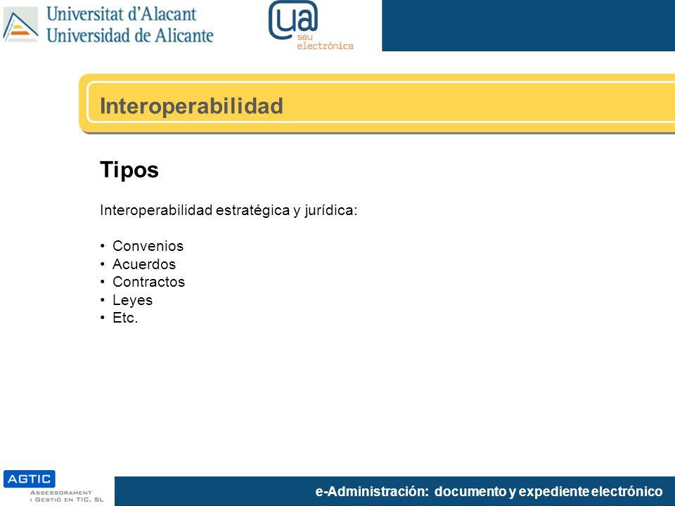 Interoperabilidad Tipos Interoperabilidad estratégica y jurídica: