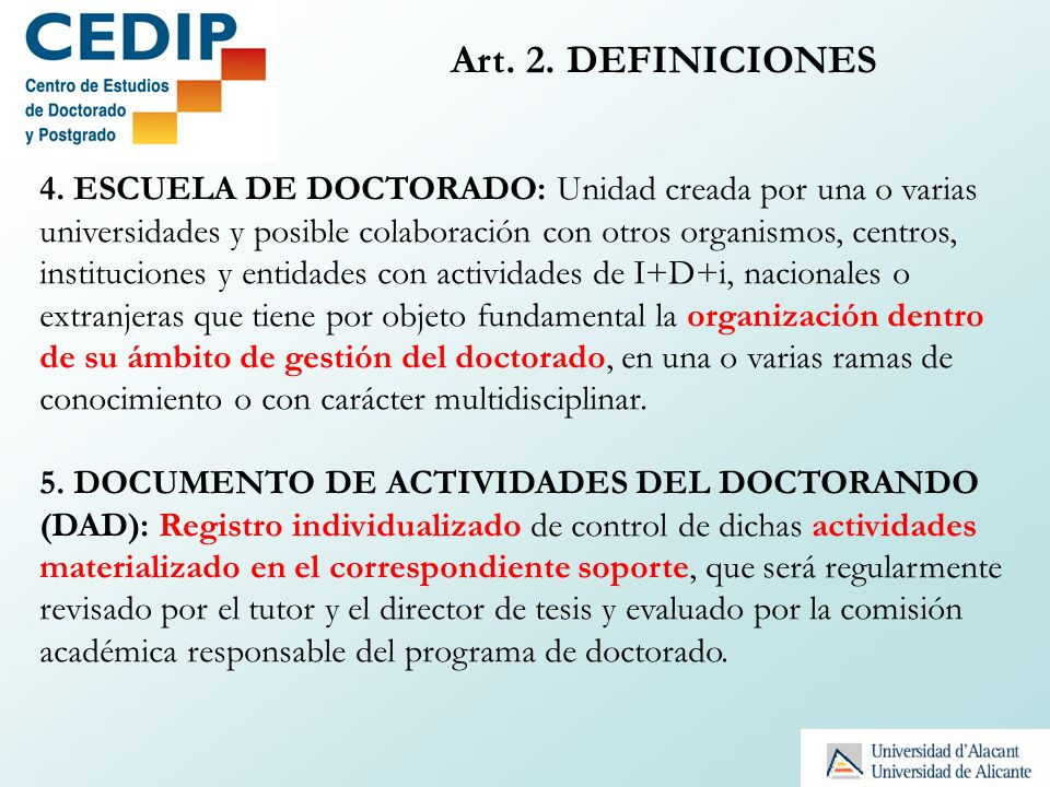 Art. 2. DEFINICIONES