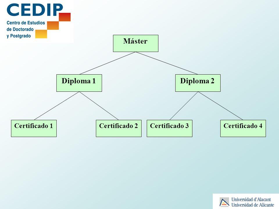 Máster Diploma 1 Diploma 2