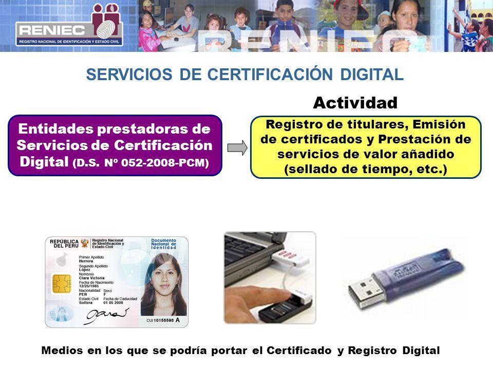 SERVICIOS DE CERTIFICACIÓN DIGITAL