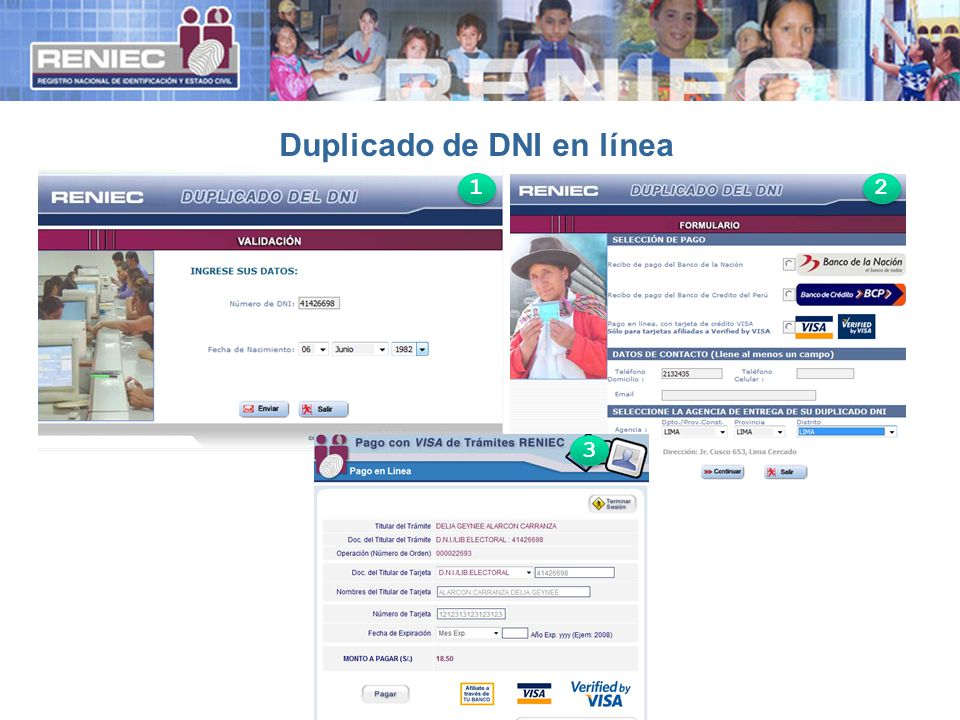 Duplicado de DNI en línea