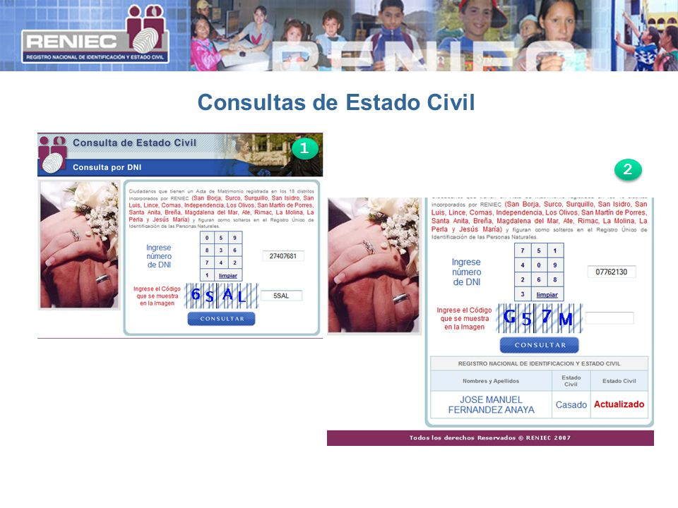 Consultas de Estado Civil