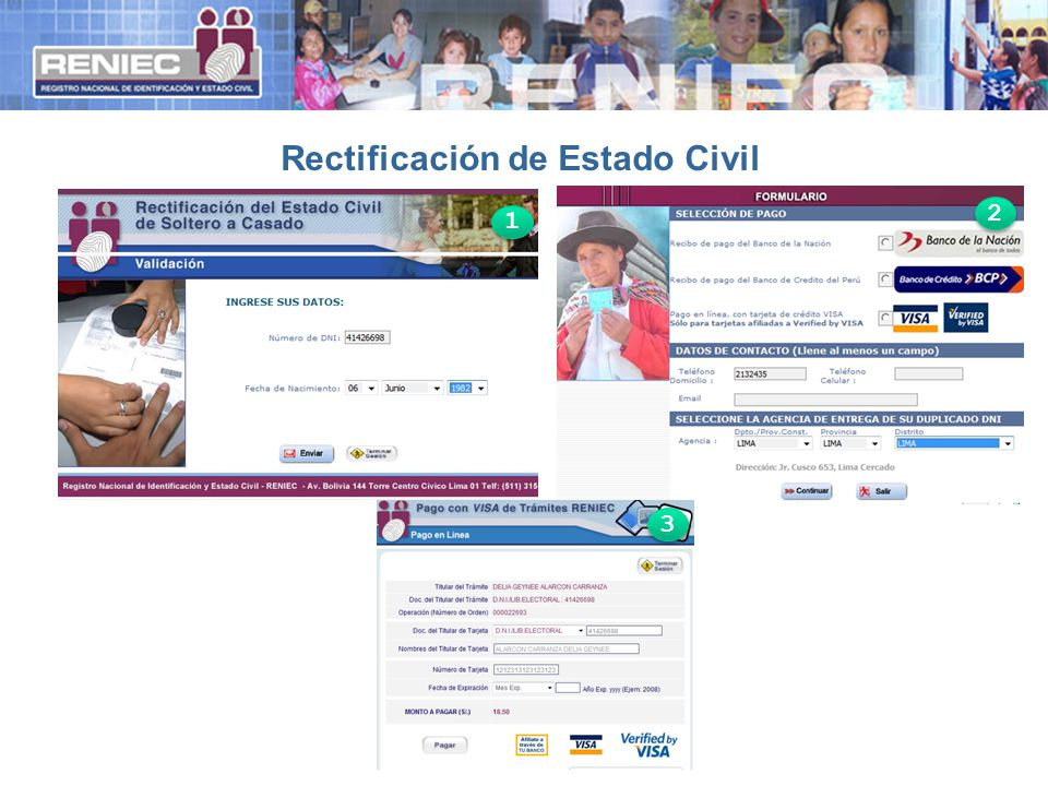 Rectificación de Estado Civil