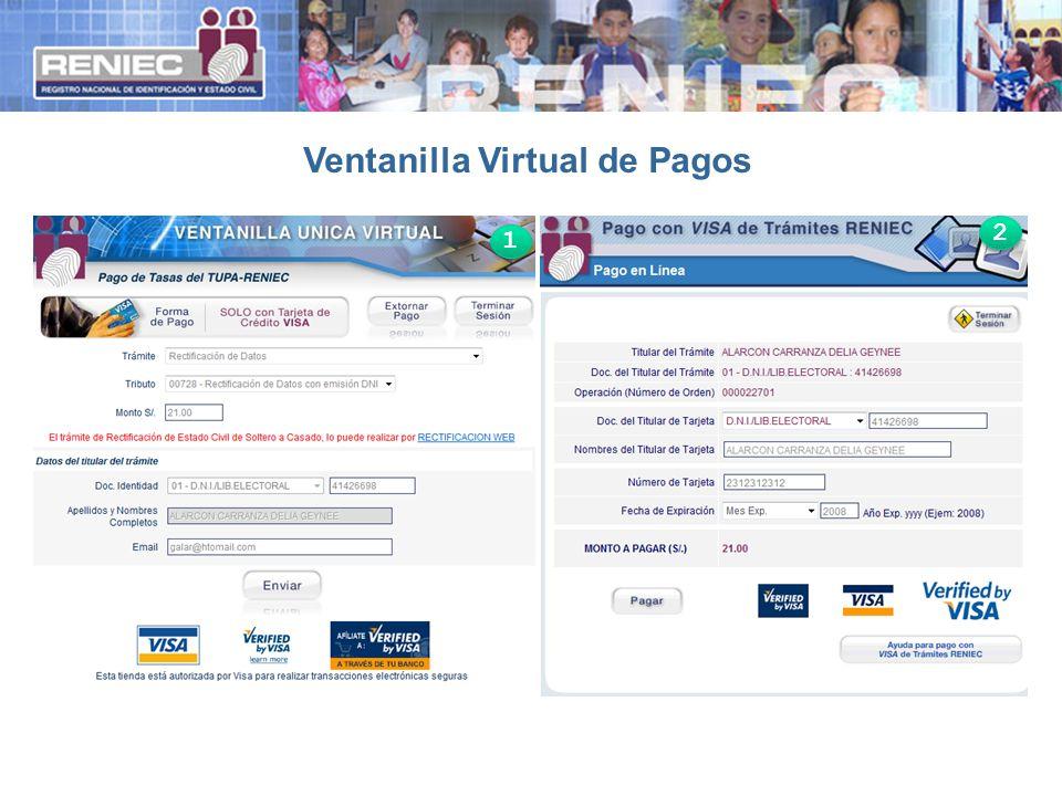 Ventanilla Virtual de Pagos