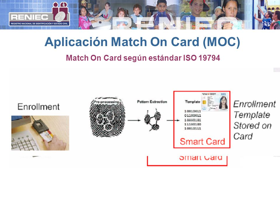 Aplicación Match On Card (MOC)