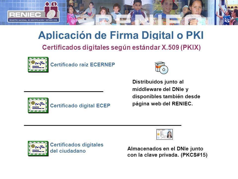 Aplicación de Firma Digital o PKI