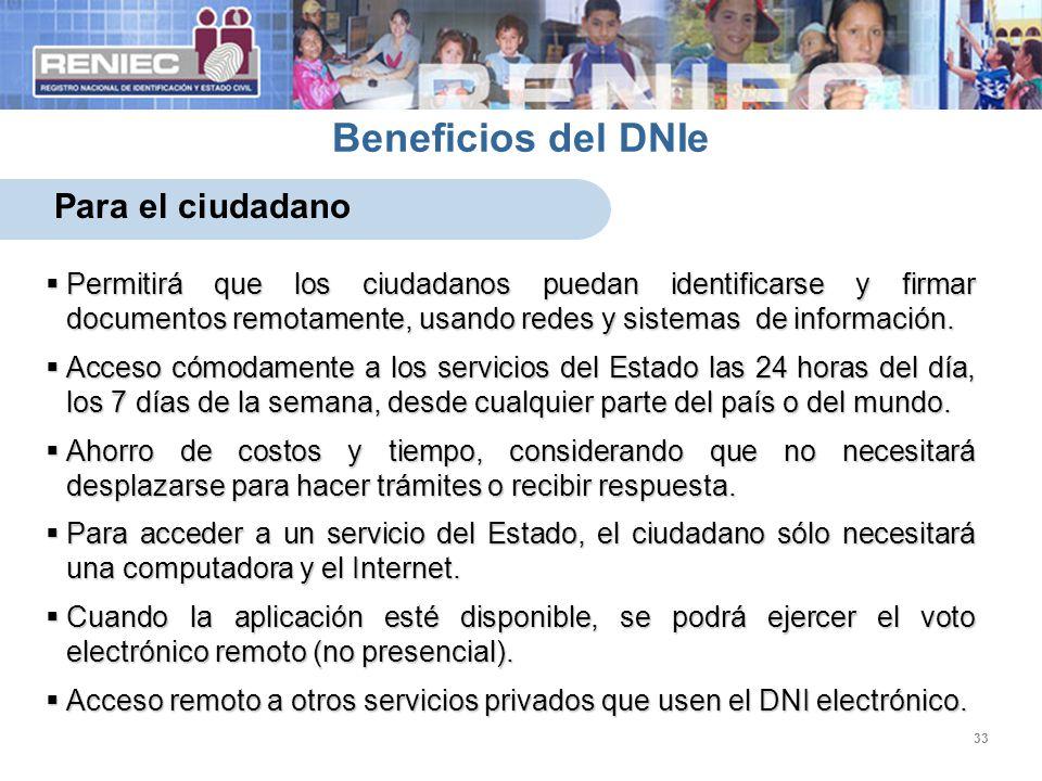 Beneficios del DNIe Para el ciudadano