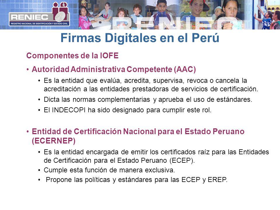 Firmas Digitales en el Perú