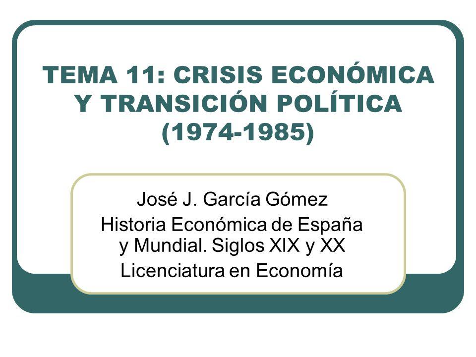 TEMA 11: CRISIS ECONÓMICA Y TRANSICIÓN POLÍTICA (1974-1985)