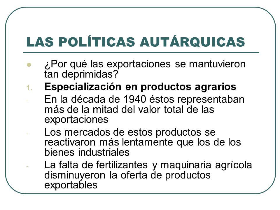 LAS POLÍTICAS AUTÁRQUICAS