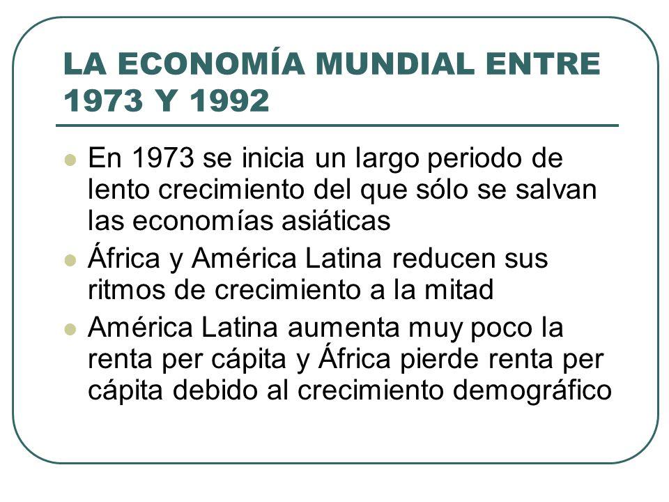 LA ECONOMÍA MUNDIAL ENTRE 1973 Y 1992