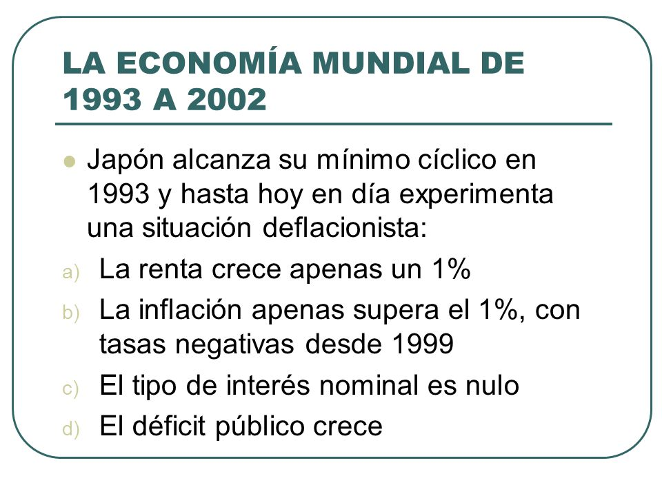LA ECONOMÍA MUNDIAL DE 1993 A 2002