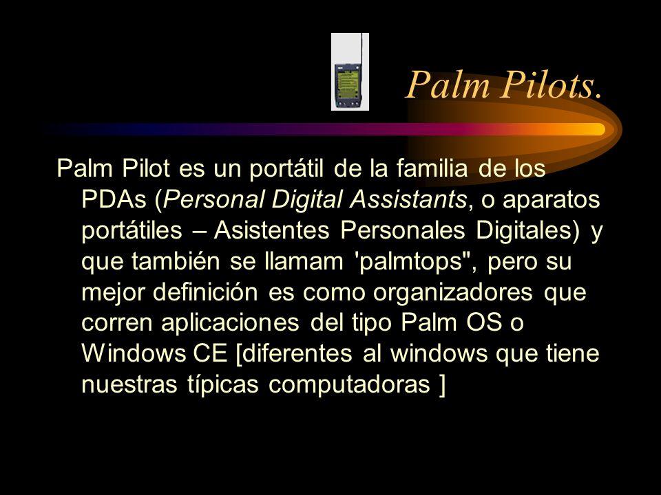 Palm Pilots.