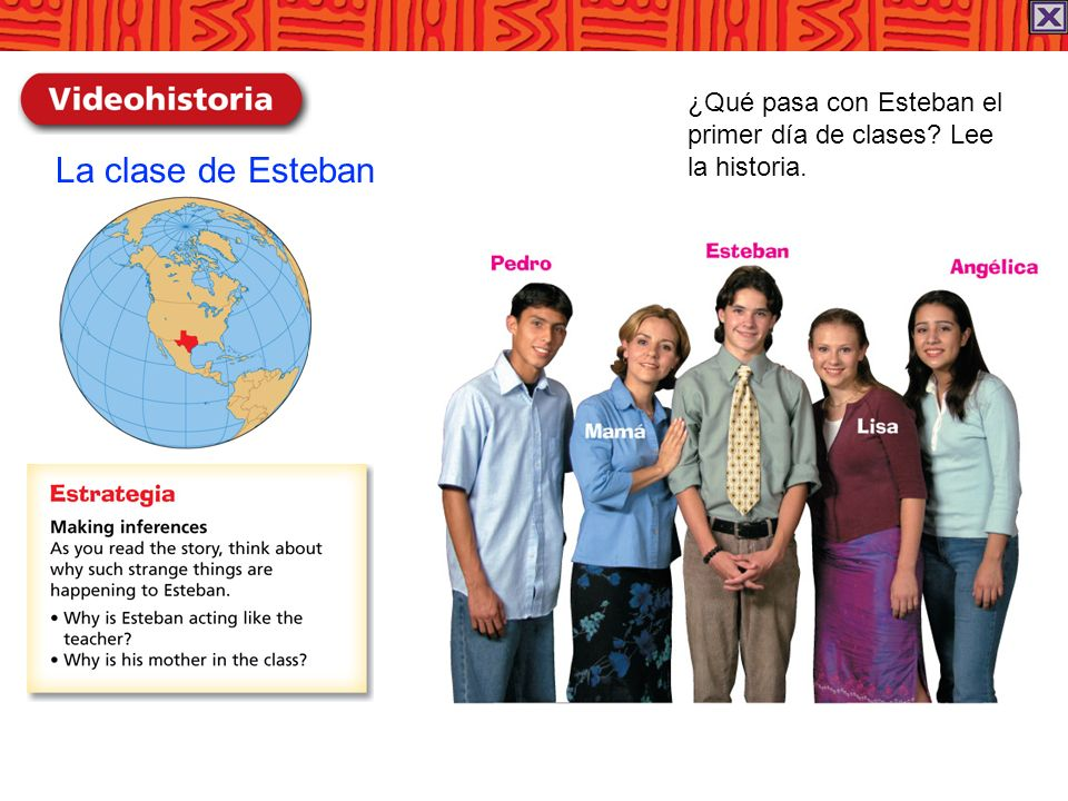 La clase de Esteban ¿Qué pasa con Esteban el primer día de clases Lee