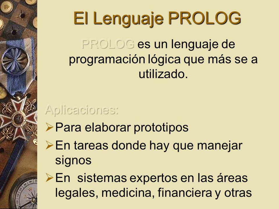 PROLOG es un lenguaje de programación lógica que más se a utilizado.