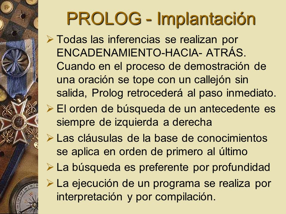 PROLOG - Implantación