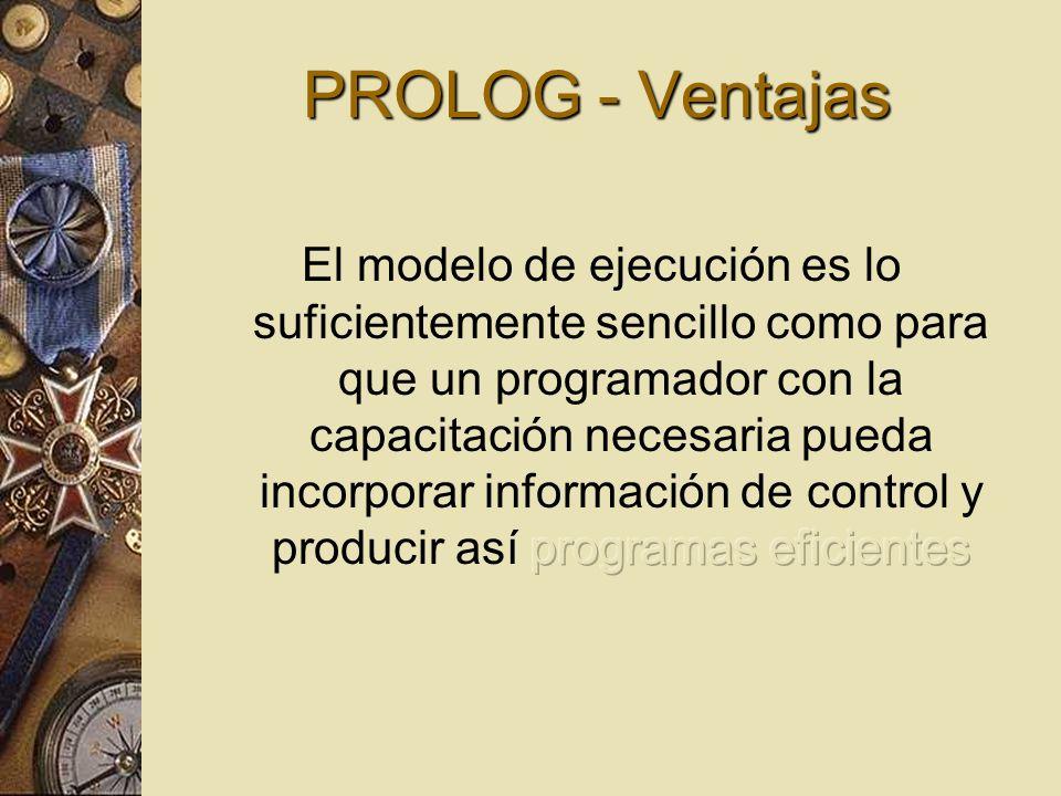 PROLOG - Ventajas