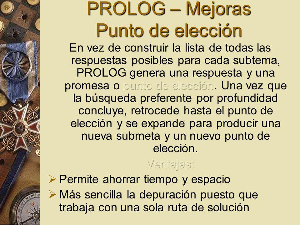 PROLOG – Mejoras Punto de elección