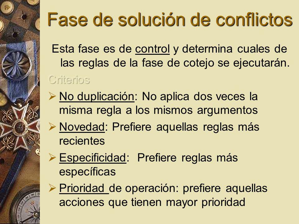 Fase de solución de conflictos