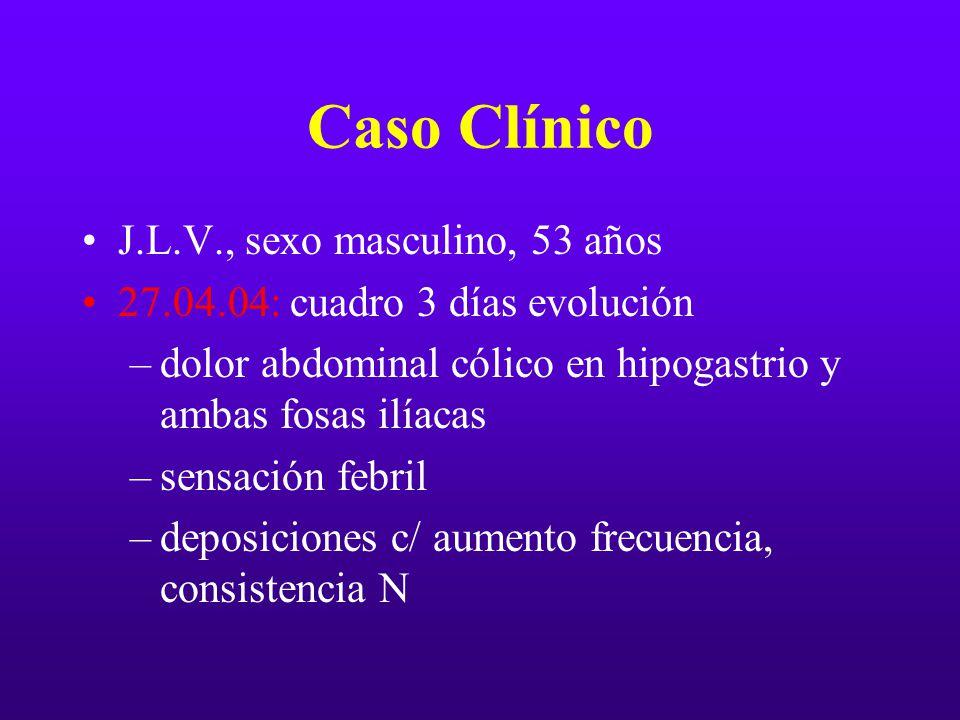 Caso Clínico J.L.V., sexo masculino, 53 años