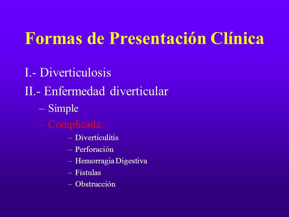 Formas de Presentación Clínica