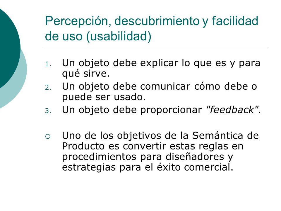 Percepción, descubrimiento y facilidad de uso (usabilidad)