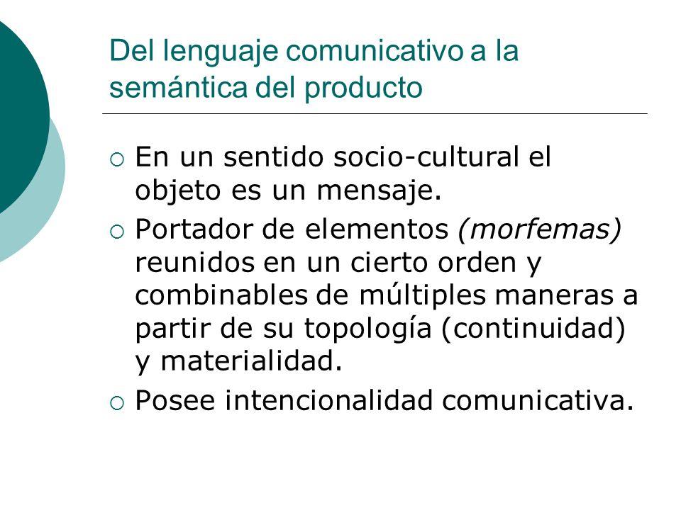 Del lenguaje comunicativo a la semántica del producto
