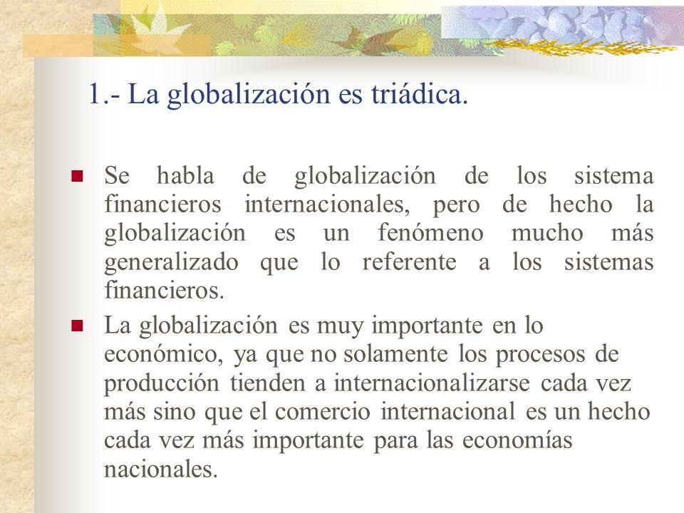 1.- La globalización es triádica.
