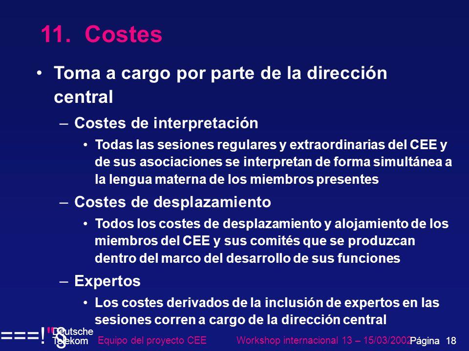 Equipo del proyecto CEE Workshop internacional 13 – 15/03/2002