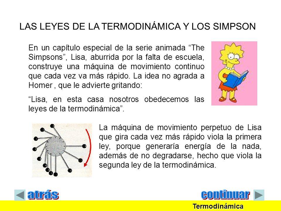 atrás continuar LAS LEYES DE LA TERMODINÁMICA Y LOS SIMPSON