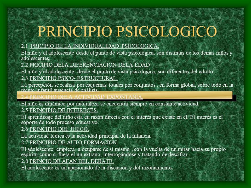 PRINCIPIO PSICOLOGICO