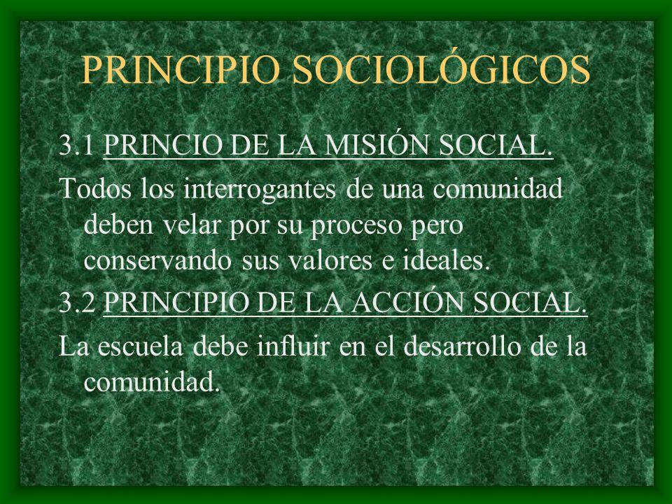 PRINCIPIO SOCIOLÓGICOS