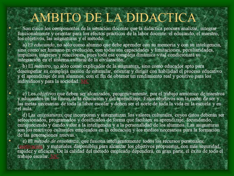 AMBITO DE LA DIDACTICA