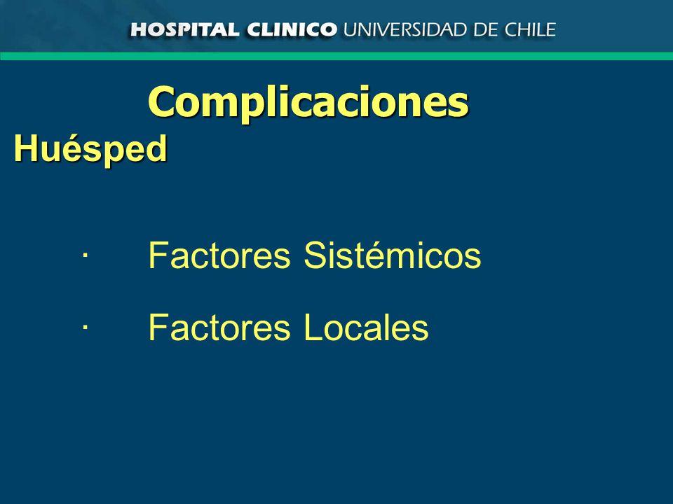 Complicaciones Huésped · Factores Sistémicos · Factores Locales
