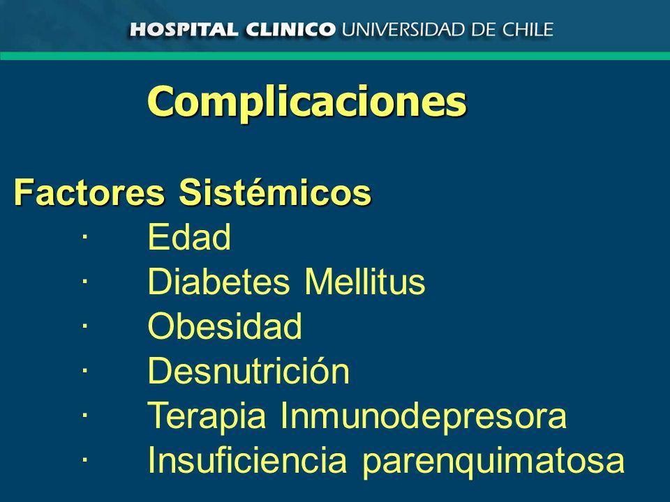 Complicaciones Factores Sistémicos · Edad · Diabetes Mellitus